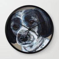 finn Wall Clocks featuring Finn by Ginny M