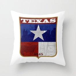 Texas Badge Throw Pillow