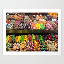 Candies at La Boqueria - Barcelona Art Print
