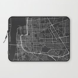 Baton Rouge Map, USA - Gray Laptop Sleeve