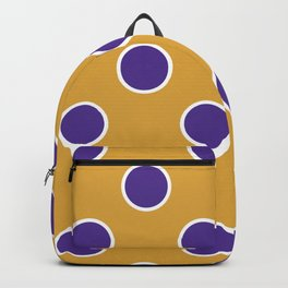 Geometric Orbital Candy Dot Circles - Purple & Golden Yellow Backpack