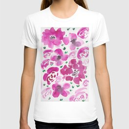 4     190412 Flower Abstract Watercolour Painting T-shirt