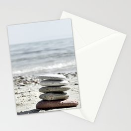 Balancing Stones On The Beach Stationery Cards