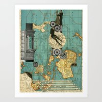 maps Art Prints featuring Maps by Ubik Designs