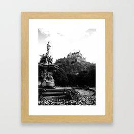 Edinburgh Castle B&W Framed Art Print