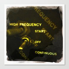 high frequency Canvas Print