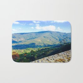 To the Mountains I lift  my eyes Bath Mat