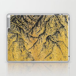 "遠望 series -""Gold Valley"" - Linocut Laptop & iPad Skin"