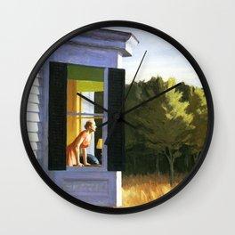Cape Cod Morning by Edward Hopper Wall Clock