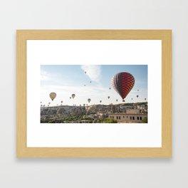 Daily Descent - Cappadocia Framed Art Print
