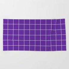 Grape Grid Beach Towel