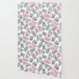 Sneakers // Pink & Black Wallpaper