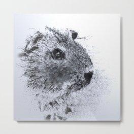 Animals and Art - Guinea Pig Metal Print