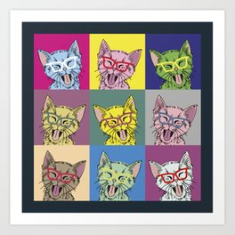Pop Art Cat Art Print