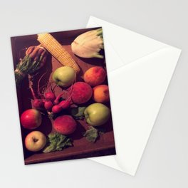 fruits and veggies Stationery Cards