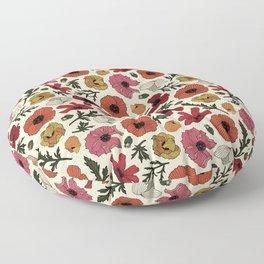 California Poppy Floor Pillow