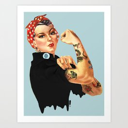 Tattooed Rosie the Riveter Kunstdrucke