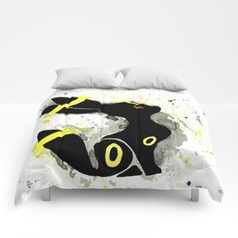 Umbreon Splash Silhouette Comforters