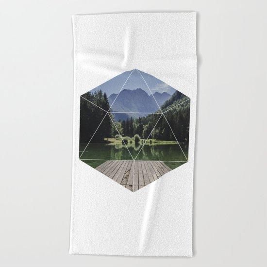 Beautiful Nature  Geometric Photography Beach Towel