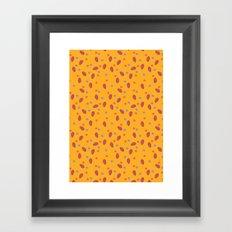 yellow dotty Framed Art Print