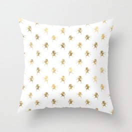 Gold Unicorn Pattern Throw Pillow