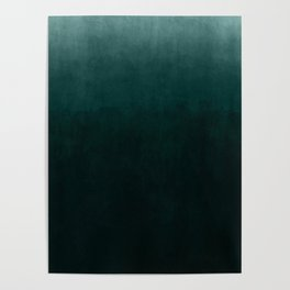 Ombre Emerald Poster