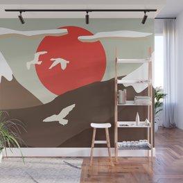 Swan Migration Wall Mural