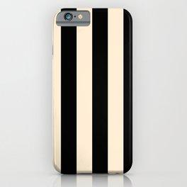 Elegant Stripes - Black & Beige iPhone Case