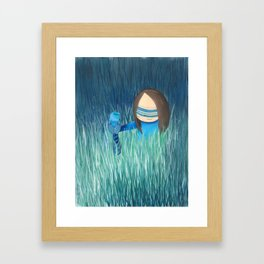 Magical, fairytale aura, a girl with bird Framed Art Print