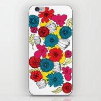 scandinavian iPhone & iPod Skins featuring Scandinavian Flowers by Meredith Art/Design
