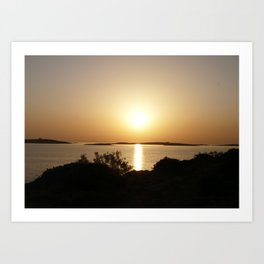 At Day's End Greek Sunset  Art Print