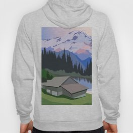 Living in countryside near lake and mountains Hoody