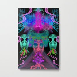Ghostly Exhalations (ultraviolet) Metal Print