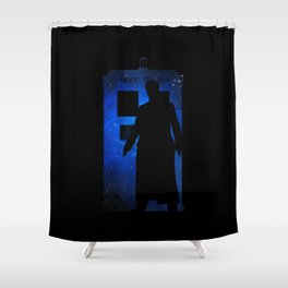 Allons-y!!! Shower Curtain
