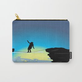 Silhouette over the precipice Carry-All Pouch