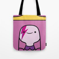 princess bubblegum Tote Bags featuring Princess Bubblegum  by lapinette