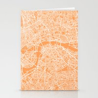 london map Stationery Cards featuring London Map by chiams