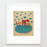 holiday Framed Art Prints featuring Holiday by ezgi karaata
