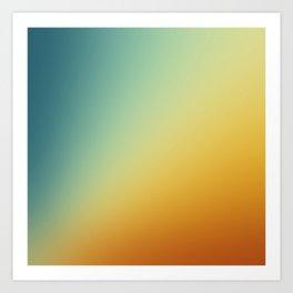 Gradient Colours: Orange Blue Art Print