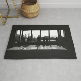 New York City Skyline Window Rug