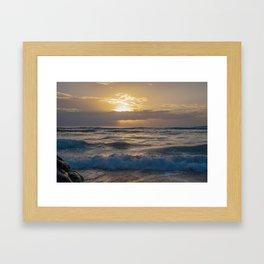 fluffy silky waves Framed Art Print