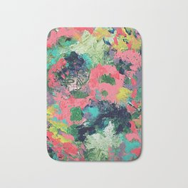 Pink Abstract Bath Mat