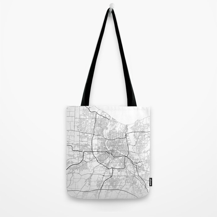 Minimal City Maps - Map Of Rochester, New York, Untited States Tote Bag