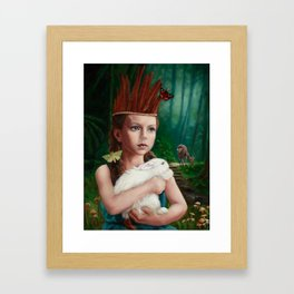 Feather Crown Framed Art Print