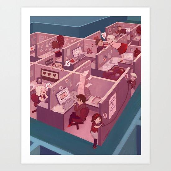 Office Romance Art Print