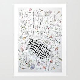 The bagpipes Art Print