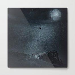edge of always - dark blue Metal Print