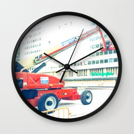 The Red Crane Wall Clock