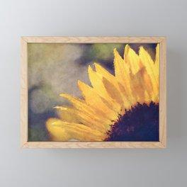 Another sunflower - Flower Flowers Summer Framed Mini Art Print