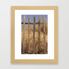 Fence to the Sky! Framed Art Print